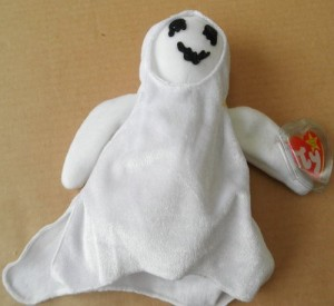 b2f9547d64e Smartbuy Ty Beanie Babies Sheets The Ghost Animal Plush 7 Inches ( White )