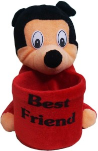 Muren Mickey Stuffed Toy cum Pen Stand 1 Compartment  - 15 cm