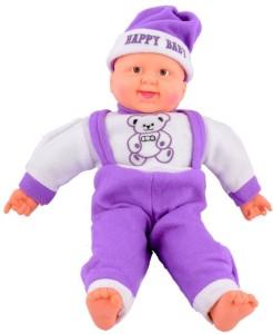 VRV Soft Musical Happy Baby Boy toy  - 35 cm
