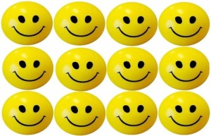 GIKAY Smiley Balls Set of 12 Pieces  - 3 inch