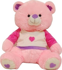 425a43291fd Surbhi Teddy with Jacket 65cms 25 6 inch pink Best Price in India ...