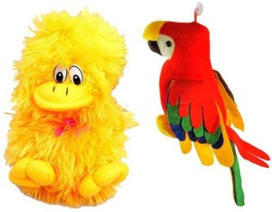 Deals India Musical Parrot and Musical Duck combo  - 30 cm
