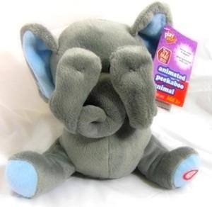 Play Right Animated Peek-a-boo Plush Animal, Elephant  - 20 inch