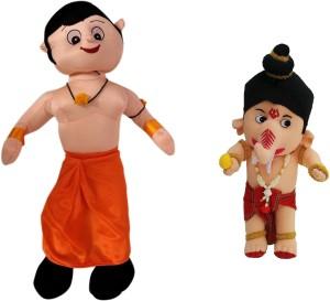 Poonam Big Size Chota Bheem Kids Plush Soft Toy 50cm (20inch) With Small Ganesha  - 50 cm