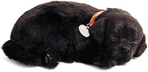 88 Unlimited Perfect Petzzz Black Lab Breathing Puppy In Dog Bed