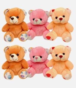 My Dress My Style Set of 6 Cute Teddy Bear  - 7 inch