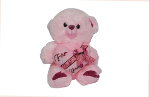 Trimurti Imported Fur Pink Teddy For You  - 36 cm
