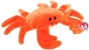 Ty Classic Ty Beanie Buddies Digger Crab Orange