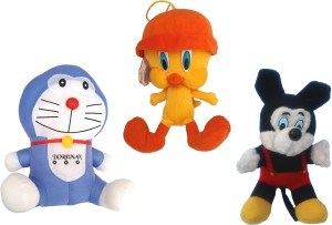 Galaxy World Pack of cartoon characters, Doraemon+Tweety pie+mickey mouse Set of 3 soft cartoon character toy  - 33 cm