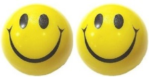 Kosh Smiley Face Squeeze Stress Balls 3 inch (Pack Of 2)  - 3 inch