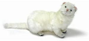 Hansa Sitting White Ferret 12