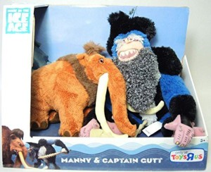 TPF Toys Ice Age Continental Drift Movie Plush 2Pack Manny Captain