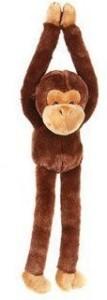 Adventure Planet One Large Hanging Velcro Hand Stuffed Animal Plush Monkey  - 20 inch