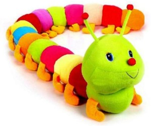 SRVSOFT Cute colorful caterpillar toy  - 60 cm