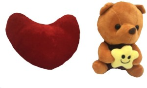 aparnas small teddy with heart combo for kids  - 19 cm