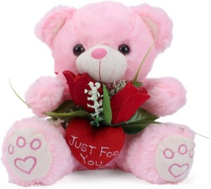 Tickles Teddy With Rose  - 22 cm