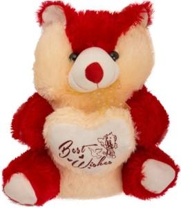 Ktkashish Toys kashish red & cream cute teddy bear 22 inch  - 22 inch