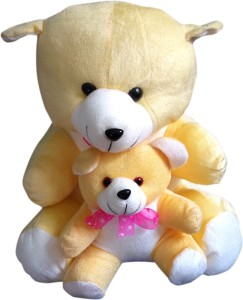 S S Mart Yellow Mother Teddy Bear soft toy  - 40 cm