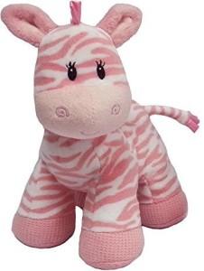 First & Main, Inc. Ba Zebra Pink 8 Inch/Ba Shower/Christening/Newborn/S