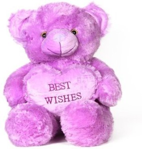 V GOLLY JOLLY NX Soft Teddy Heart Wid Wishes  - 60 cm