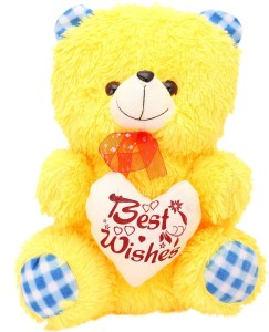 Arihant Online Yellow Dainty Teddy Bear  - 10 inch