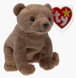 Ty Beanie Ba Pecan The Bear Beanbag Plush