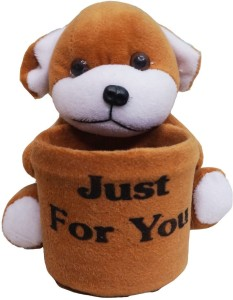 Muren Dog Stuffed Toy cum Pen Stand 1 Compartment  - 15 cm