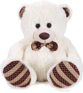 Starwalk Teddy Bear Plush Beige Color (Dotted Bow)  - 14 inch