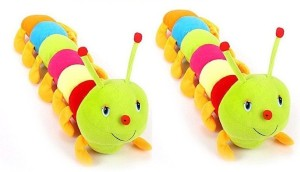 SHOP24HOME Colourful Caterpillor Soft Toy 55cm combo of two  - 30 cm