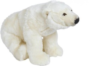 Cuddles Polar Bear Sitting  - 30 cm