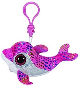 Ty Sparkles Pink Dolphin Clip