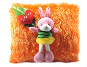 Tickles Cushion With Rabbit and Heart  - 30 cm