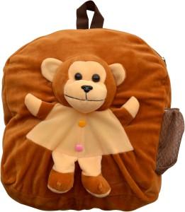 Funtastic Brown Monkey Design Kids Bag School Bag