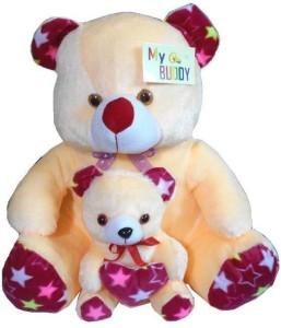 MYBUDDY sweet soft mother with baby teddy bear  - 55 cm