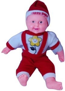 Cuddles Laughing Baby Boy With Music 40 Cm Red White Best Price In