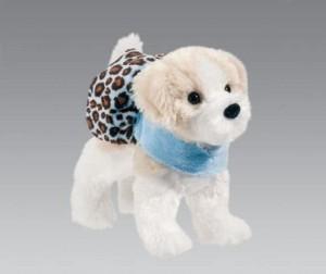 Douglas Cuddle Toys Douglasadele Shihtzu Plush Dog With Blue Cheetah Coat