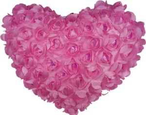 Aparshi Pinky rose heart soft toy for valentine  - 40 cm
