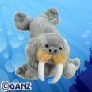 Webkinz Walrus + Bookmark New With Sealed Tag And Unused Codes