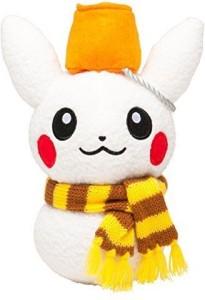 Pokmon center Pikachu Holiday 2014 Snowman Plush - 7 3/4