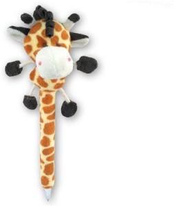 Puzzled Giraffe Plush Pen