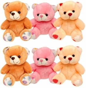 ShadowFax Teddy Soft Bear 8 inche Set of Six  - 20 cm