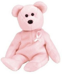 Ty Beanie Babies Cure Breast Cancer Awareness Bear