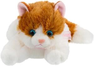 ToynJoy Cute Soft Brown & White Cat Stuffed Toy  - 30 cm