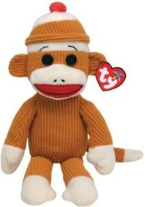 TY Beanie Babies Socks Monkey (Tan Corduroy)
