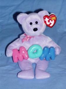 TY Beanie Babies 1 X Mom The Bear