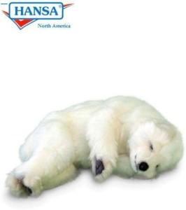 Hansa Sleeping Polar Cub Reproduction 12'' Long Affordable Gift