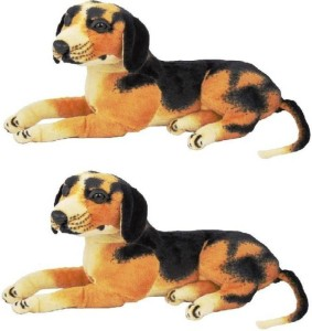 S S Mart Combo of Two Dog soft toy  - 32 cm