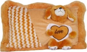 S S Mart Brown Soft Baby Pillow  - 32 cm