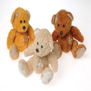 US Toys Teddy Bear With Patches65Inchassorted Colors (Pack Of 12)