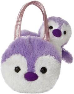 Aurora World Fancy Pals Purple Penguin Plush Pet Carrier